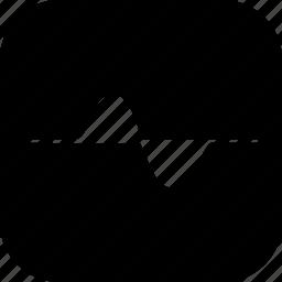 cosine, graph, line, positive, science, sinusoid, wave icon