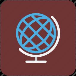desk globe, desktop globe, globe, office supplies, table globe icon