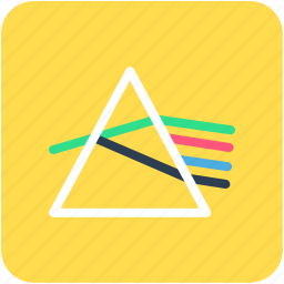 angle, physics, prism, refraction, science diagram icon