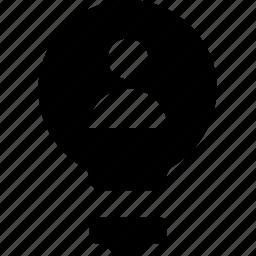 avatar, bulb, idea, innovation, light icon