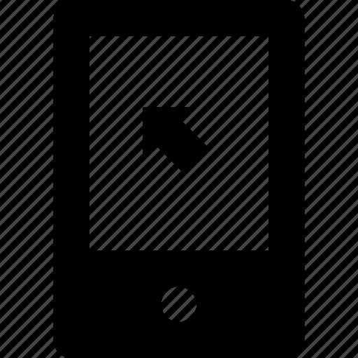 cell, click, cursor, mobile, phone icon