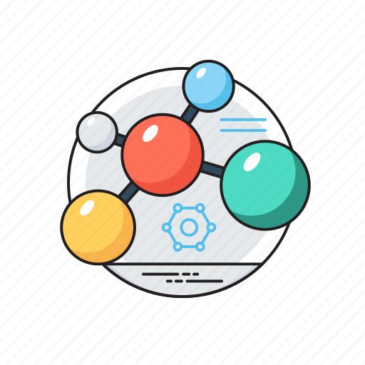 atom, compound, electron, molecule structure, science icon