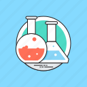 chemical laboratory, lab apparatus, lab equipments, lab experiment, lab research icon