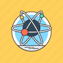 atom bond, atomic symbol, electron, molecule, science icon