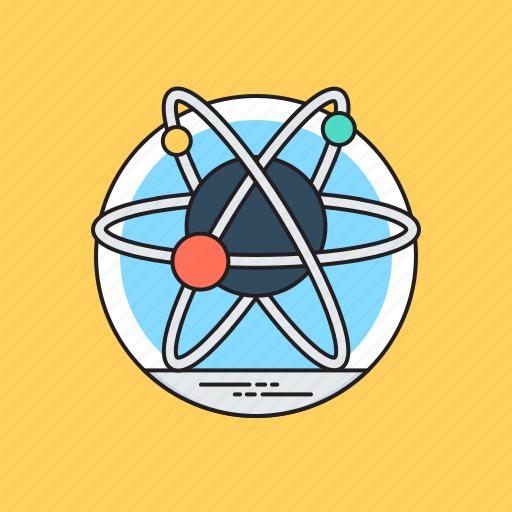 atom bond, atomic symbol, electron, molecule, science icon