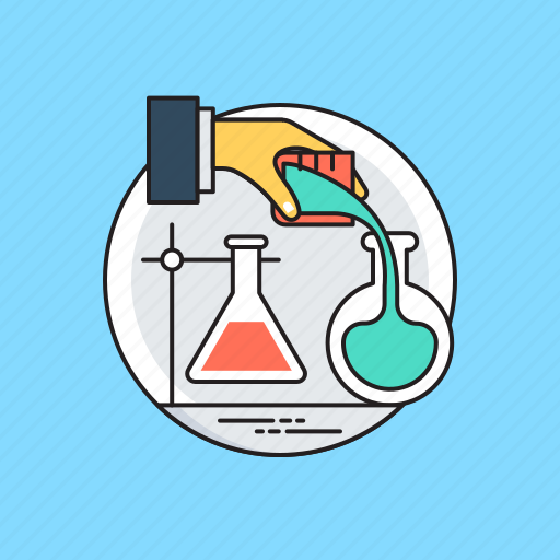 chemical flask, lab experiment, lab research, laboratory apparatus, scientific research icon