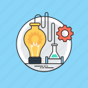 chemical lab, chemistry lab, lab equipments, laboratory research, scientific experiment icon