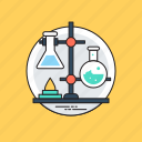 chemical flask, chemistry, lab equipments, lab glassware, volumetric flask icon