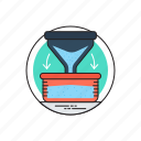 filter, filter funnel, funnel, kitchen funnel, laboratory funnel icon