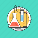 biochemistry, chemical flask, clinical research, lab testing, science laboratory icon