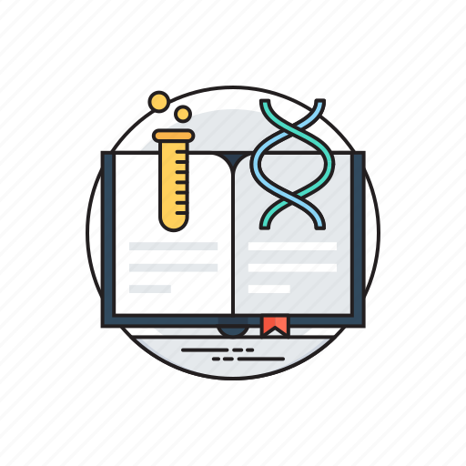genetics research article, research papers, science book, science journal, science notes icon