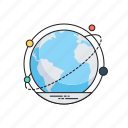 global communication, global connection, global connectivity, information technology, worldwide linking icon