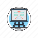 basic science, science class, science education, science presentation, whiteboard icon