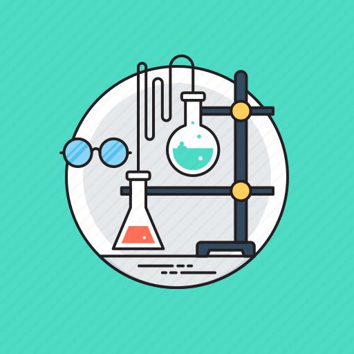 chemical flask, chemistry, lab equipments, lab glassware, volumetric flask icon