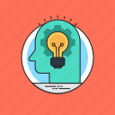 creative idea, creative mind, innovative idea, logical thinking, transforming idea icon