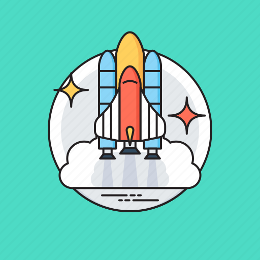 business launch symbol, missile, rocket launch, space rocket, startup symbol icon