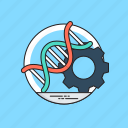 biotechnology, genetic engineering, genetic manipulation, genetic modification, organism genes icon