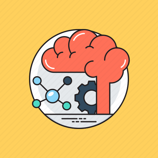 artificial intelligence, brainstorming, creative mind, creative thinking, thinking process icon