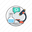 biology experiments, clinical research, lab research, science laboratory, scientific chemistry icon