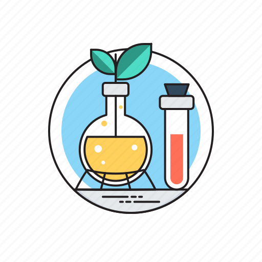 biotechnology, botany experiment, plant research, plant sciences, research and development icon