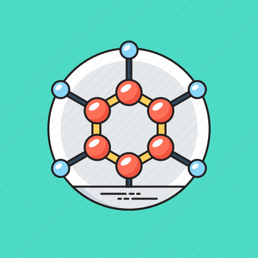 atom, compound, molecular bond, molecule, science icon
