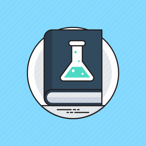 basic sciences, research theory, science book, science literature, scientific knowledge icon