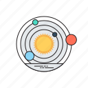 galaxy, orbit, solar system, space, universe icon