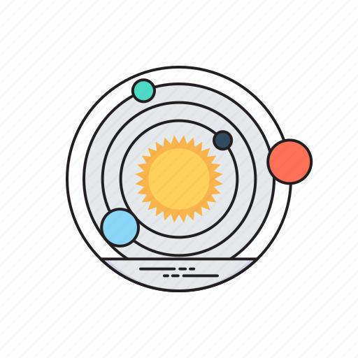 galaxy, orbit, solar system, space, universe icon