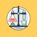 chemical experiment, chemical reaction, chemistry lab, lab research, test flask icon