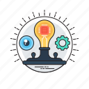 creative idea, creative process, innovation, smart solution, transforming idea icon