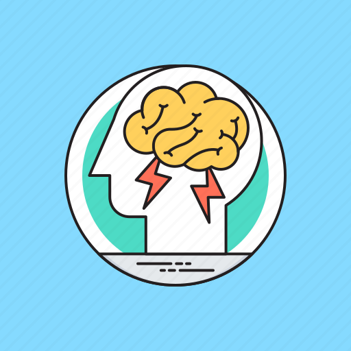 brain fitness, brainstorming, creative brain, creative thinking, logical thinking icon