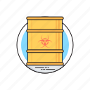 biohazard chemical, chemical waste, hazardous waste, toxic barrel, toxic waste icon