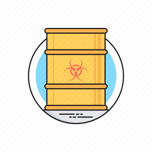 biohazard chemical, chemical waste, hazardous waste, toxic barrel, toxic waste icon