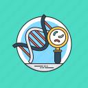 dna analysis, dna fingerprinting, dna profiling, dna testing, dna typing icon