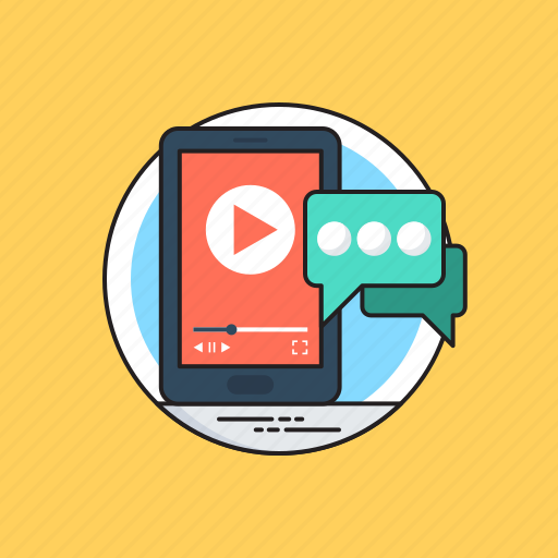 mms, mobile chat, mobile communication, mobile message, video message icon