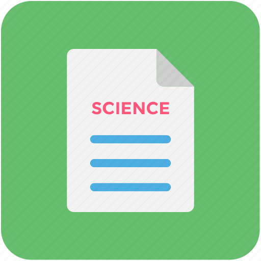 research article, science article, science blog, science journal, science research icon