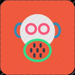 danger, gas mask, respirator mask, safety mask, toxic icon