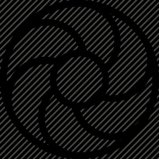 molecular, molecule symbol, orbit, proton, spiral orbit icon