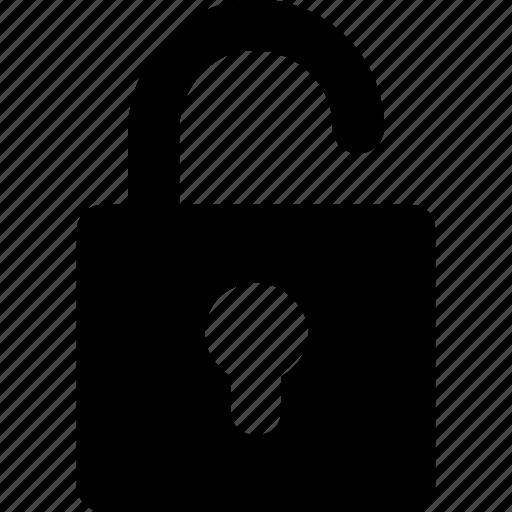 open, padlock, safe, security, unlock icon