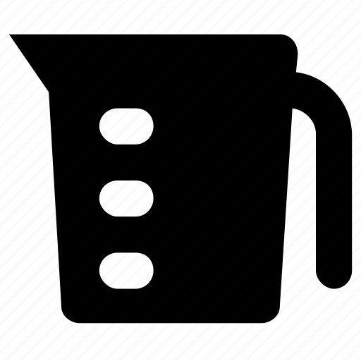 beaker, ewer, jug, measuring, utensil icon