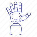 cyborg, limb, hand, futuristic, prosthetic, electronic, prosthesis, technology, science, artificial icon