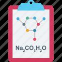atom, clipboard, molecule, notes, science icon