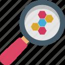atomic, molecular, find, science, molecule icon