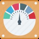 dashboard, gauge meter, speed, speedometer, technology icon