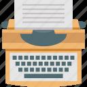 office, paper, stenographer, typewriter, typing icon