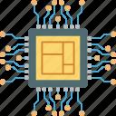 chip, memory, microprocessor, motherboard, processor icon