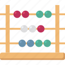 counting frame, abacus, calculating, calculation, math icon