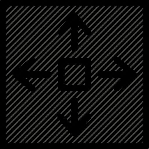 arrows, expand, expand arrows, expand screen, expandation icon
