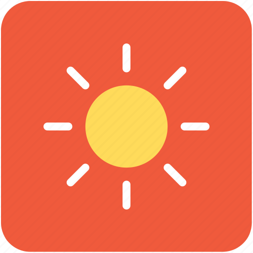 brightness, shining sun, sun, sunlight, sunrays icon