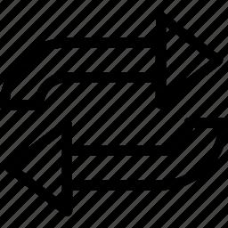 processing, redo, refresh arrows, sync, synchronization icon